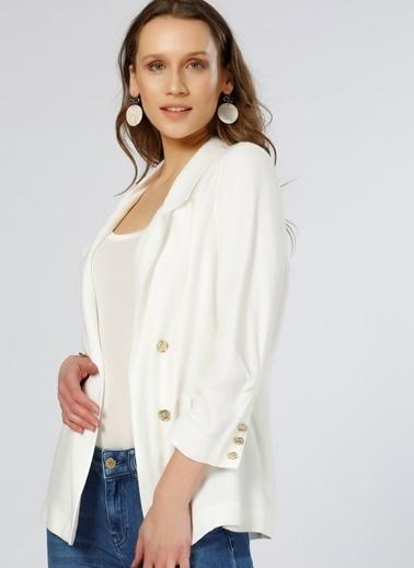 House Of Camellia Ceket Beyaz